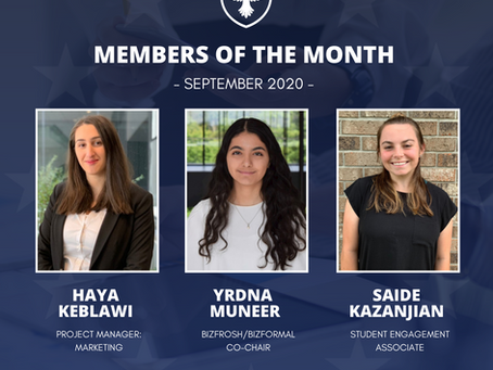 Members of the month: September 2020