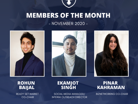 Members of the month: November 2020