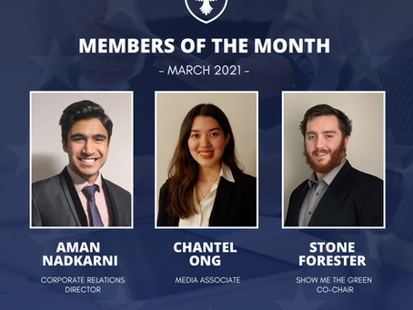 Members of the month: March 2021