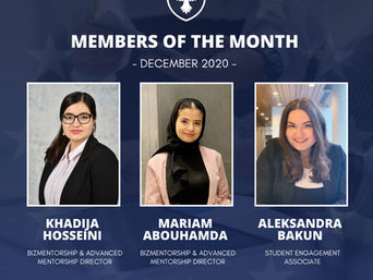 Members of the month: December 2020