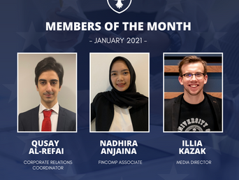 Members of the month: January 2021