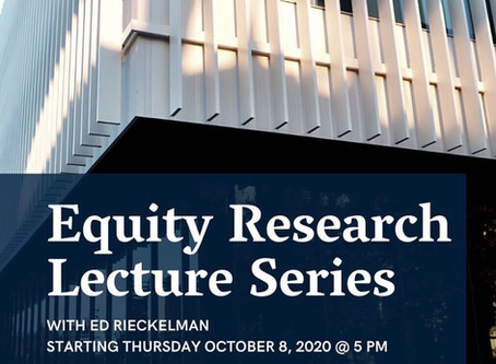 Equity Research Lecture Series