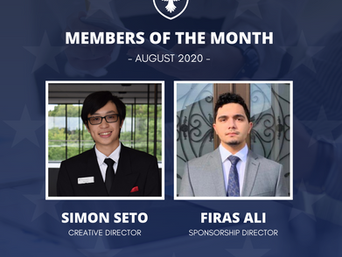 Members of the month: August 2020