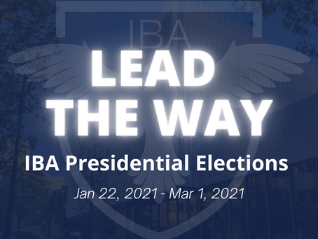 Lead the Way: IBA Presidential Elections 2021-2022