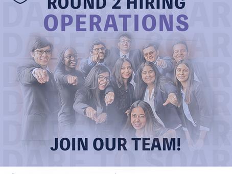 Round 2 Hiring: Operations