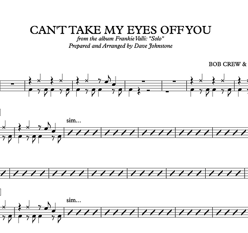 Can't Take My Eyes Off You - Franki Valli