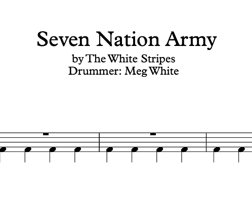 The White Stripes - Seven Nation Army 50% OFF