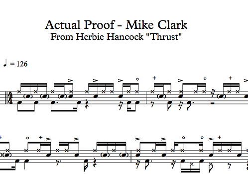 "Mike Clark ""Actual Proof"" (Herbie Hancock)"