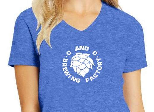 CCBF Ladies V-Neck T (multiple colors available)
