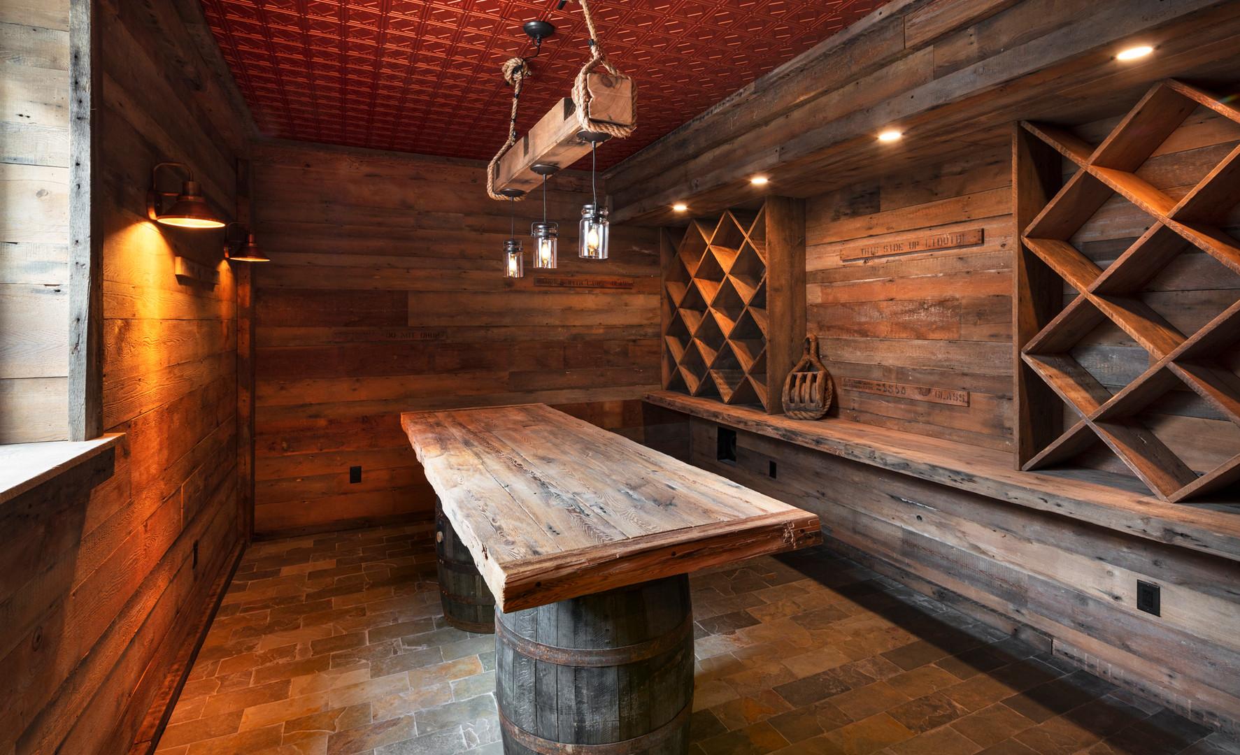 Wine Cellar in Historic Home Remodel, Chatham Village