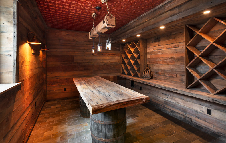 Wine Cellar in Historic Home Remodel, Chatham Village