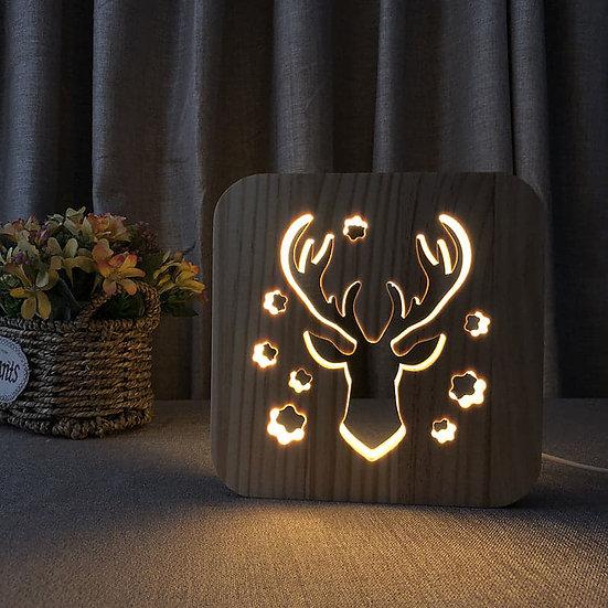 Lampe med hjort