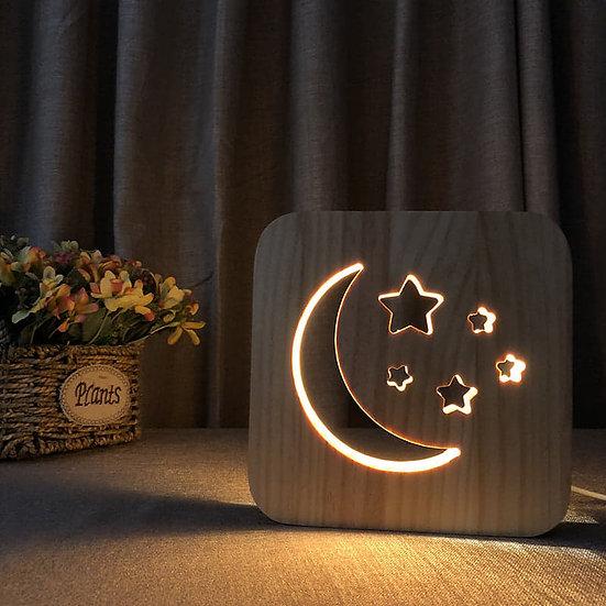 Måne Og Stjerne Lampe
