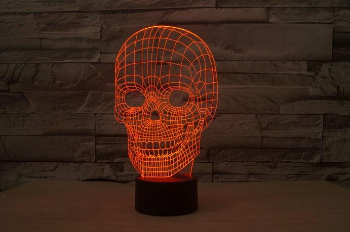 3D Lampe Dødningshode