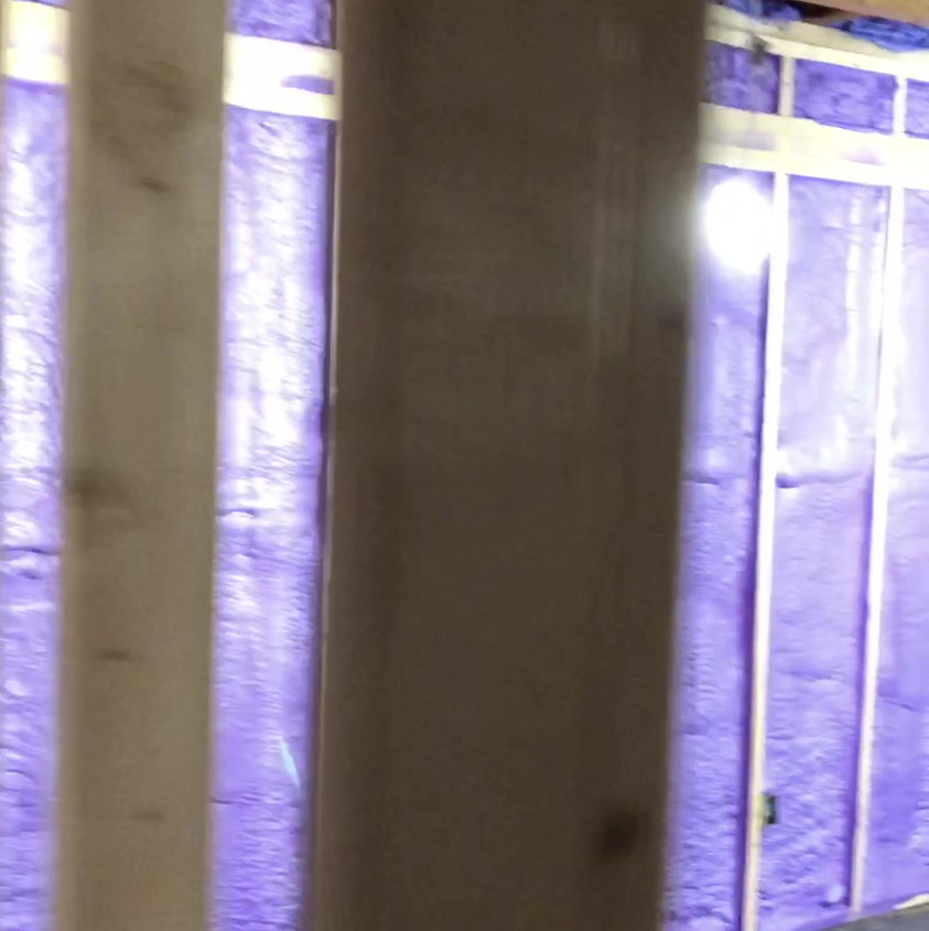 Basement retrofit with walltite closed cell foam at R-18