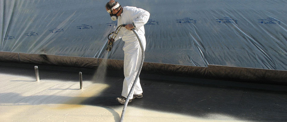 Spray foam on roofing applications