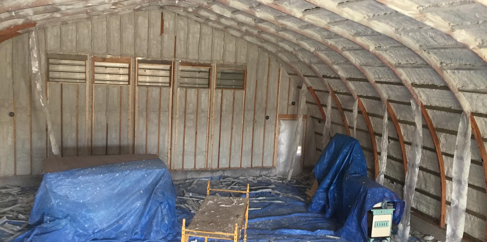spray foam barn on the go