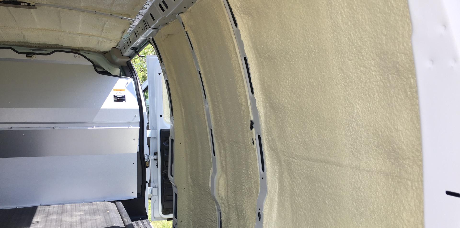 working van spray foam insulation