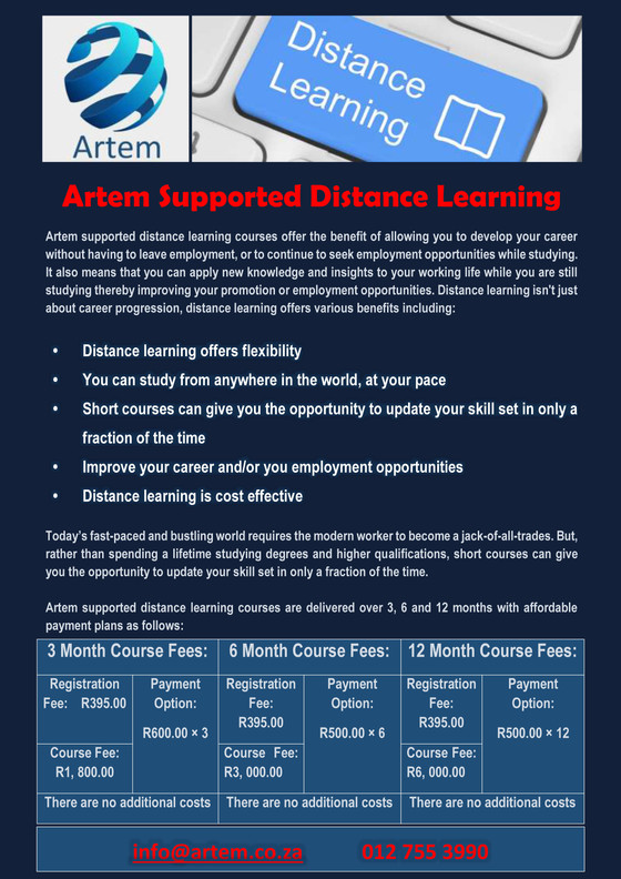 Artem Supported Distance Learning