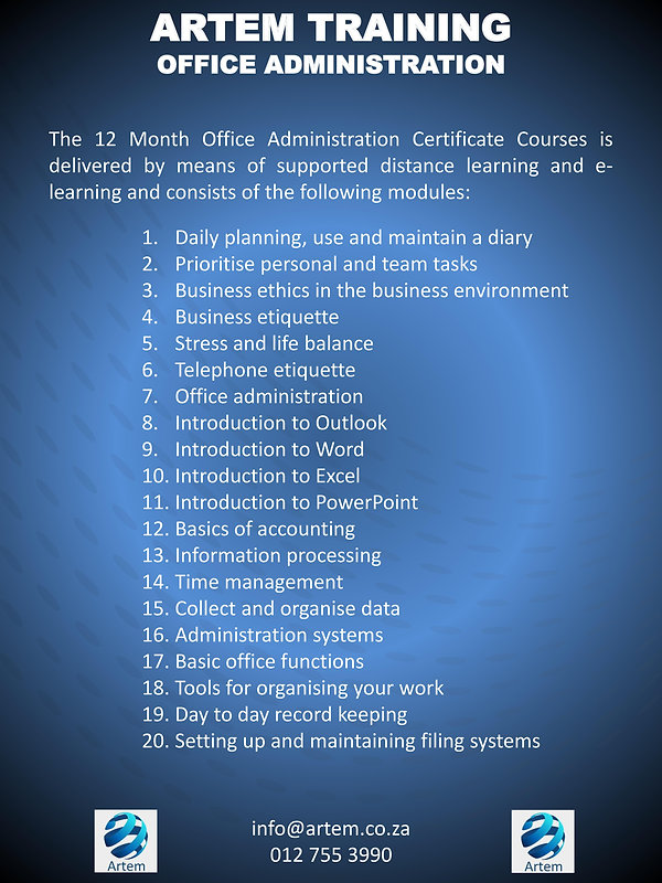 Office administration overview