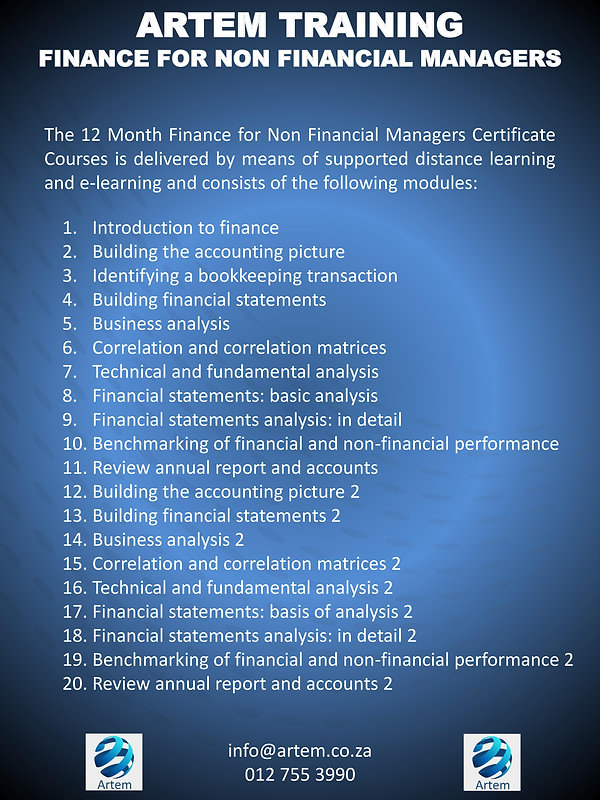 Finance for non financial managers overview