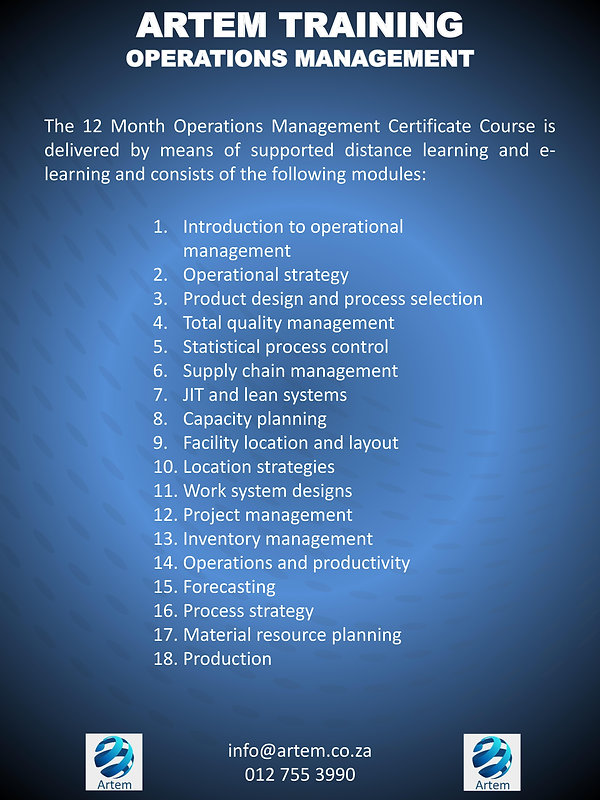 Operations management overview