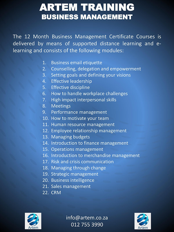 Business management overview