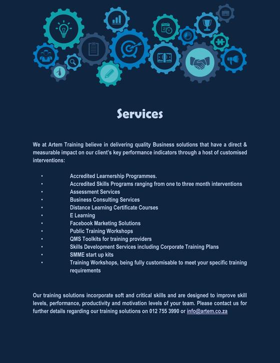 Artem Service Offering