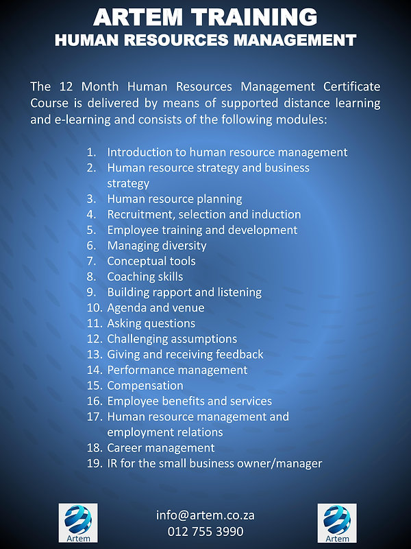 Human resources management overview