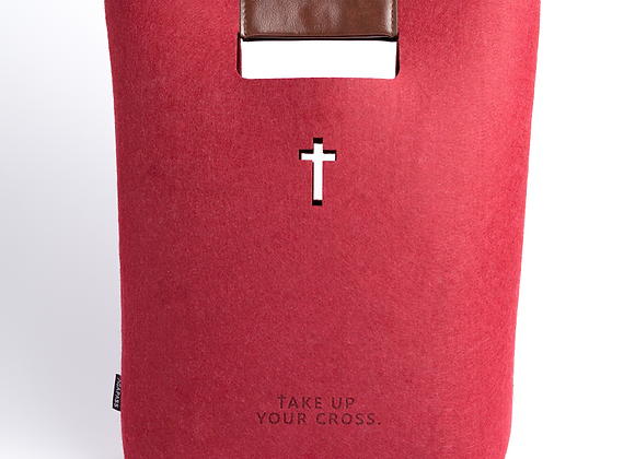 Take Up Your Cross Tote - Red