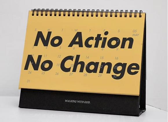 2020 Calendar - No Action No Change
