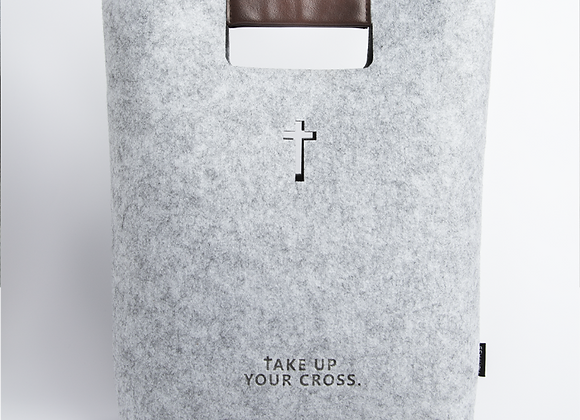 Take Up Your Cross Tote - Gray
