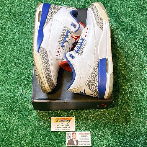 True Blue Jordan 3s (Size: 13)