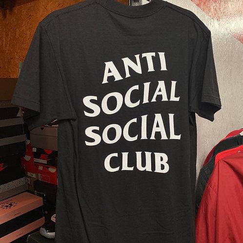 Black Anti Social Social Club T-Shirt (Size: M)