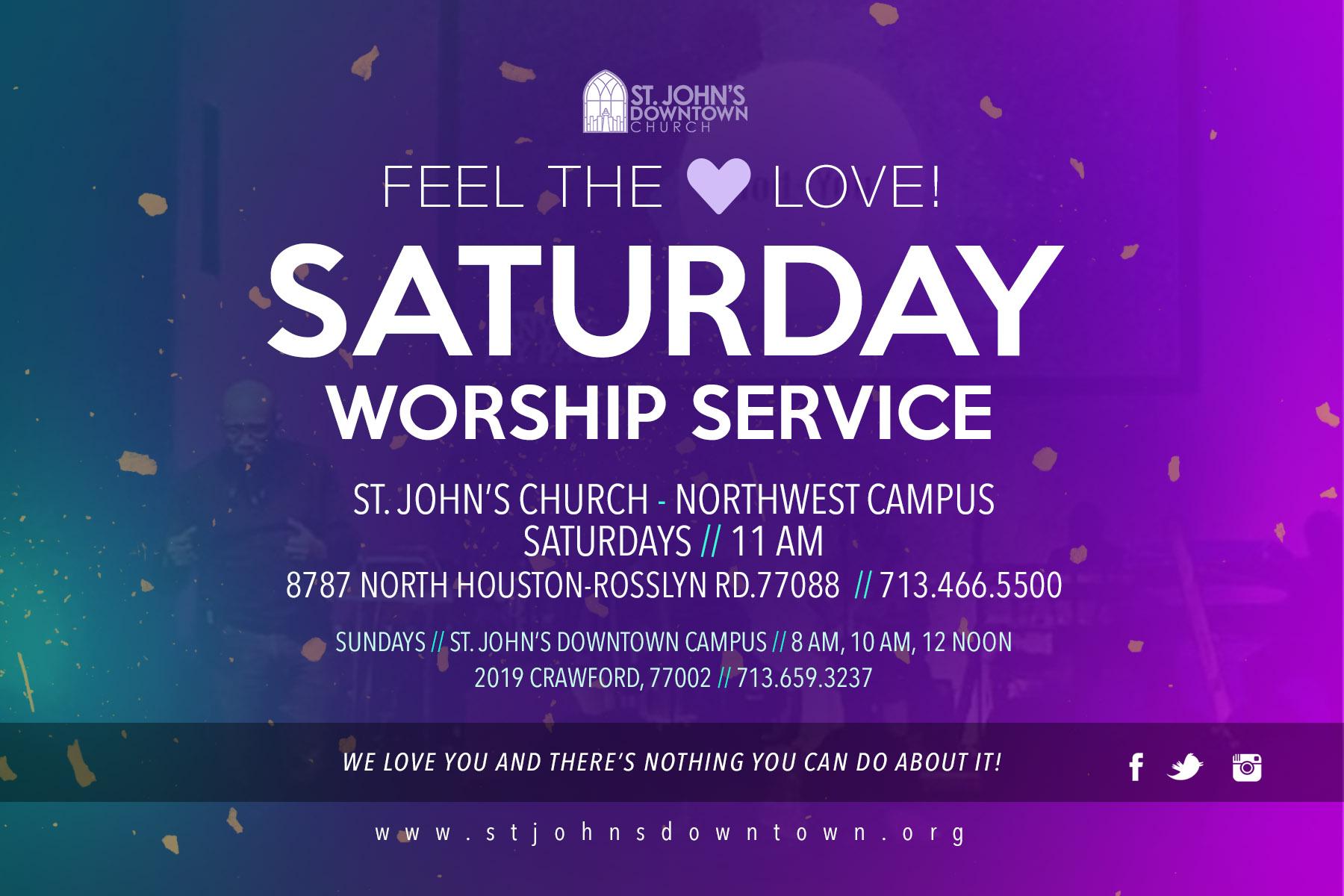 Worship Service flyer