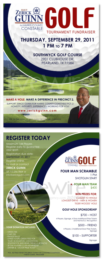 Political Campaign Golf Event Flyer