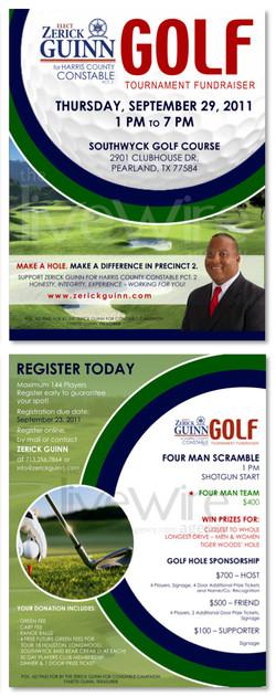 Political Campaign Golf Event Flyer