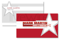 Event Promotion Business Card