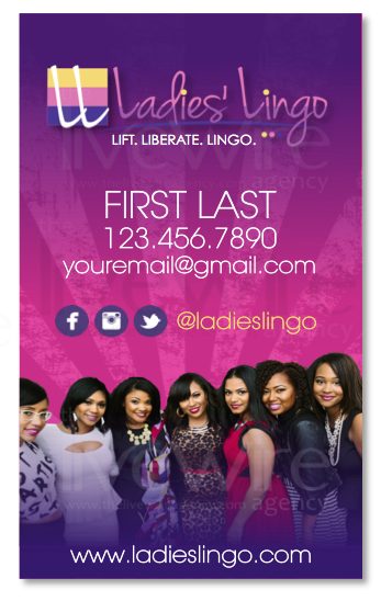 Ladies Lingo Business Card