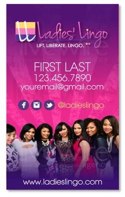 Ladies Lingo Business Card