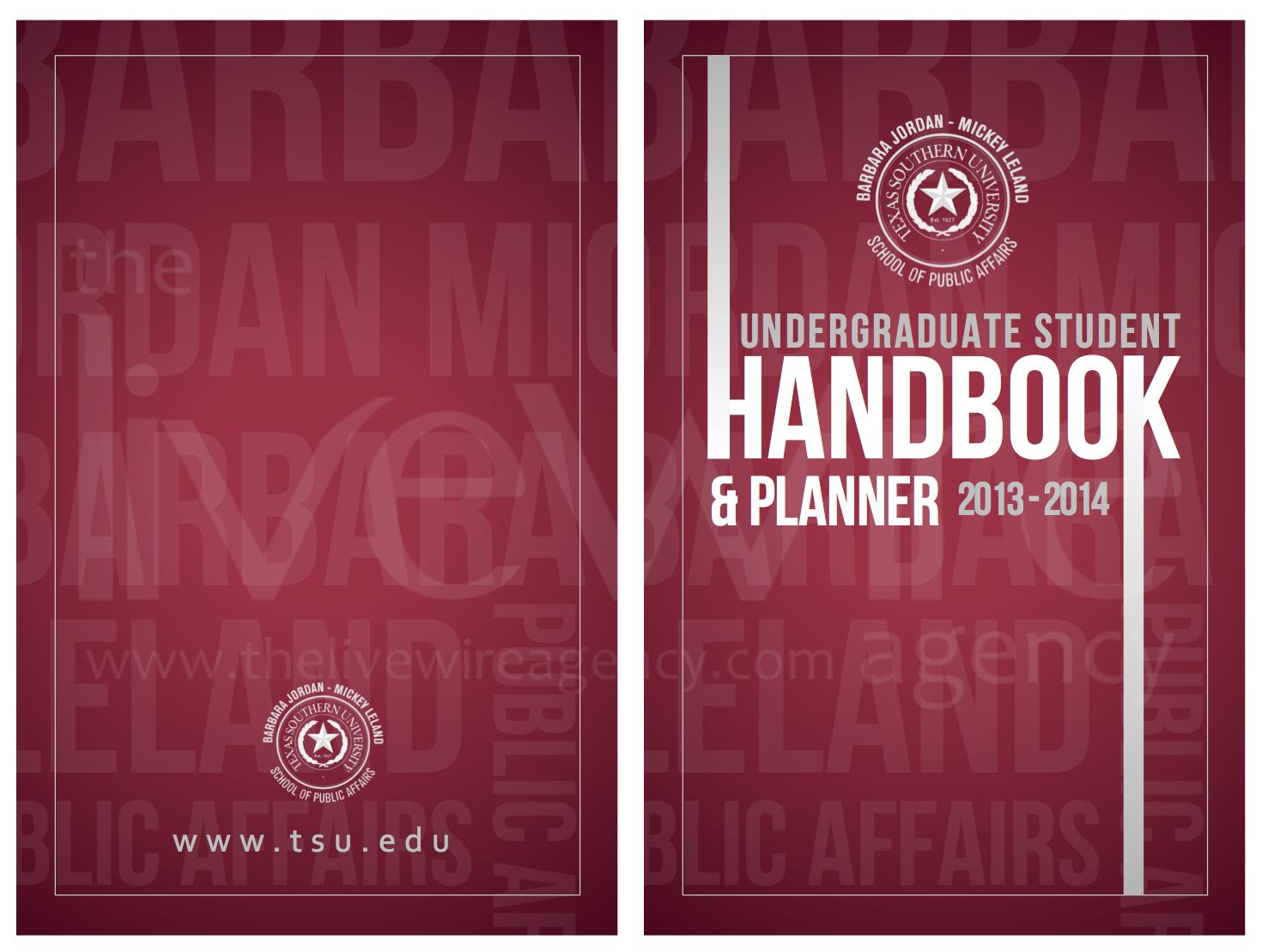 TSU Undergrad Student Handbook