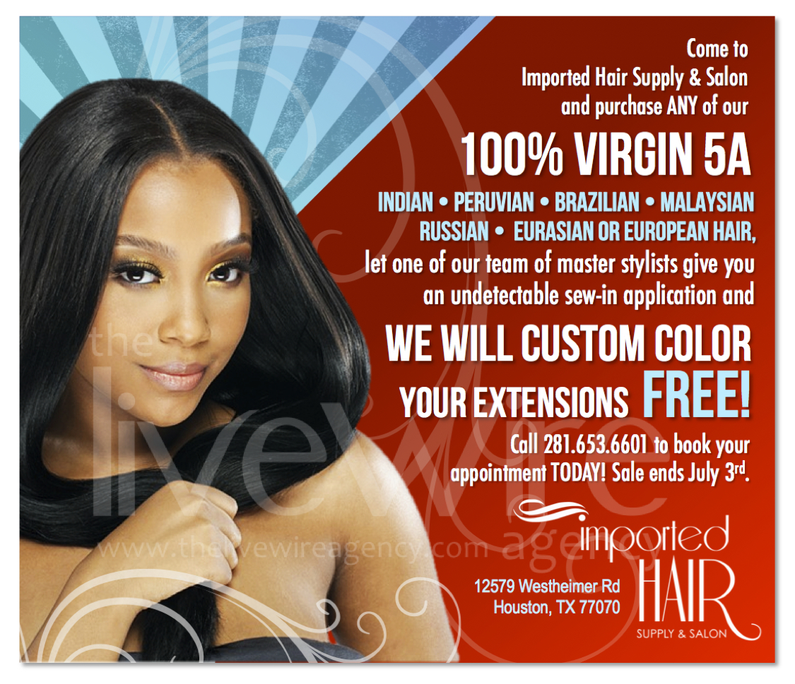 Imported Hair Promo Ad