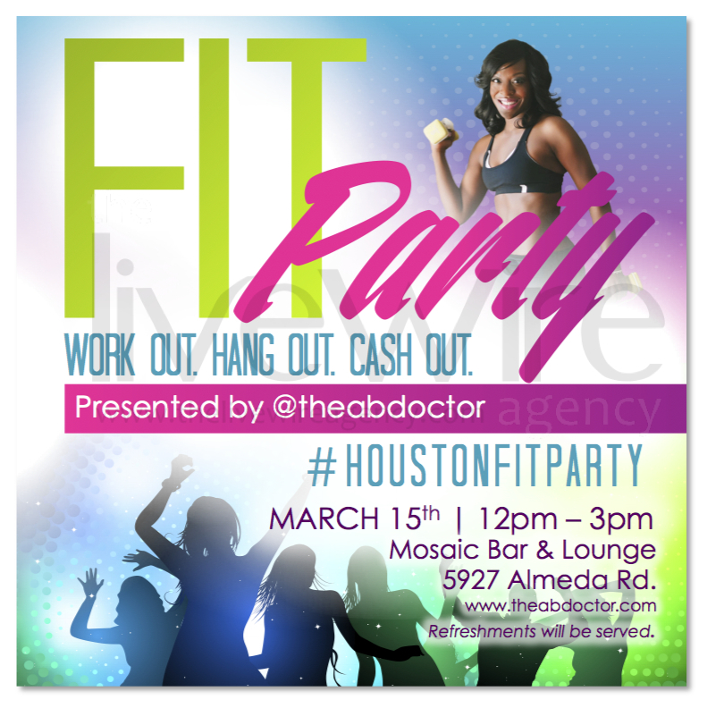 The Ab Doctor Fit Party Flyer