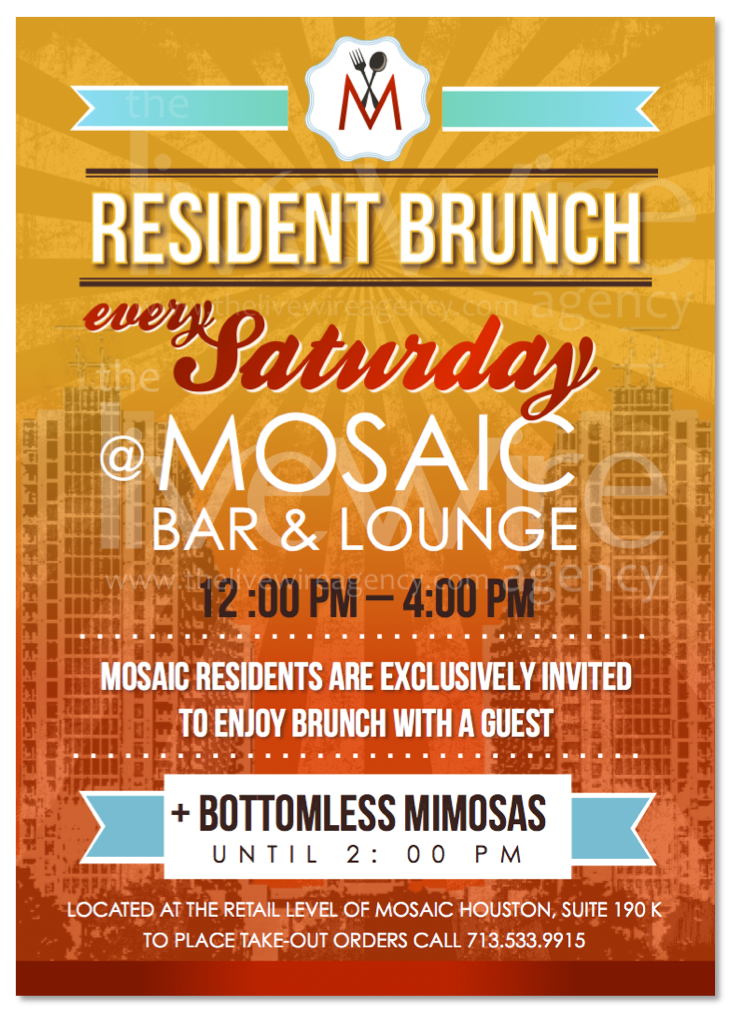 Saturday Resident Brunch Ad Flyer