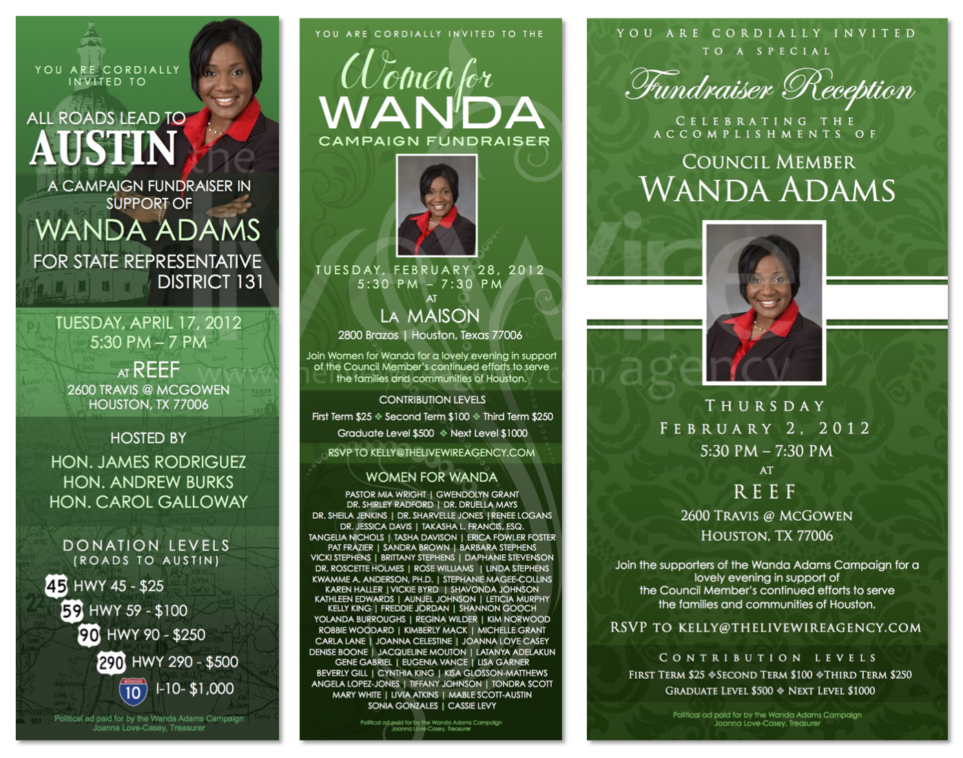 Campaign Fundraiser Invitations