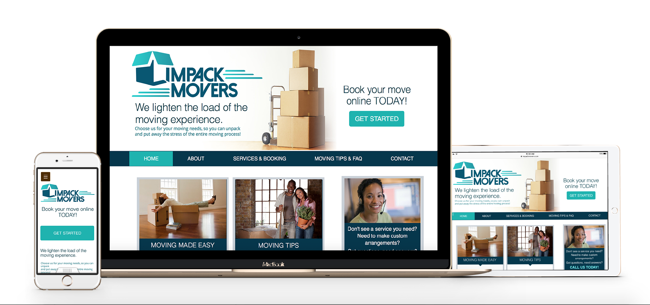 Impack Movers web design