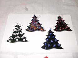X-mas Fused Glass Ornaments
