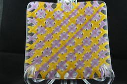 Yellow/Purple Bubble Plate