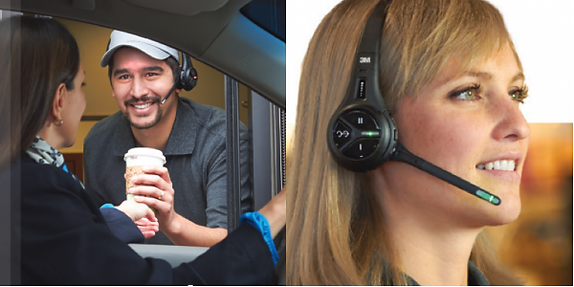 3M Wireless headsets for drive thru