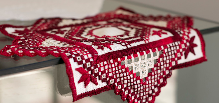 Hardanger Embroidery - Gwen McPaul from Millmerran Arts and Crafts Group